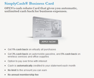 AMEX SimplyCash Business OPEN Card