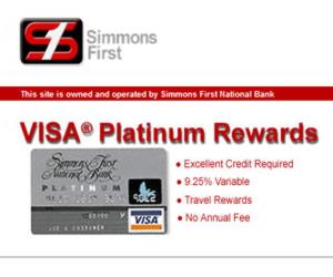 Simmons First Visa Platinum Rewards Card