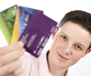 Teens debit credit cards